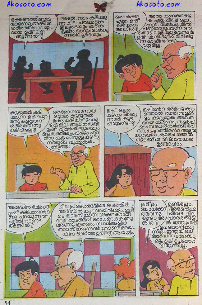 Professor Uncle, Poompata Malayalam comic strip